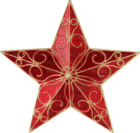 star etoile rouge et or