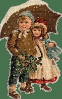 Kinder, Winter, Schirm