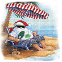 santa clause pere noel on holiday