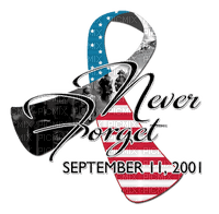 Kaz_Creations Deco American Text Never Forget September 11,2001