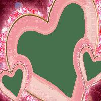 PINK HEARTS FRAME rose coeur cadre deco