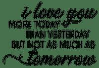I Love You Text Black - Bogusia