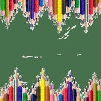 school colorful pencil frame border