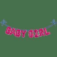 baby girl guirlande  text pink deco
