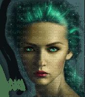 femme vert woman green