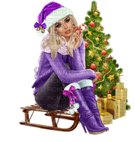 Kaz_Creations Woman Femme Colours Colour-Girls Christmas