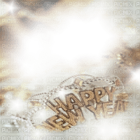 silvester happy new year text overlay fond
