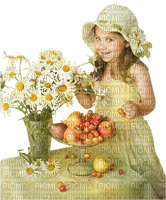 CHILD WITH FLOWERS