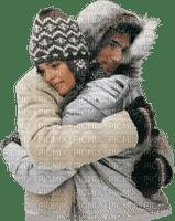winter couple hiver