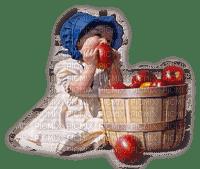 enfant pomme  child apple