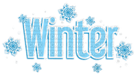 text winter hiver blue