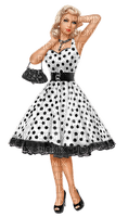 femme robe petit pois woman dress polka dots