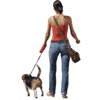 lady,femme, woman,girls,dog, chien