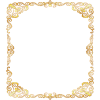 gold deco ornament frame or cadre