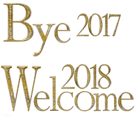 new  year-text-bye 2017 welcome 2018-gold-deco-by minou52