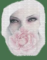 femme, visage, rose, blonde,Pelageya,