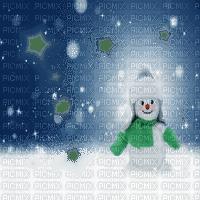 winter hiver snowman fond cadre overlay