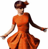 femme orange woman orange