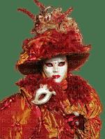 Carnaval - personnage vermillon et or