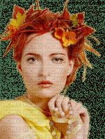 Lady, Ladies, Woman, Women, Autumn, Fall, Orange, Yellow - Jitter.Bug.Girl