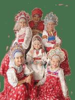 russian childs in original costume