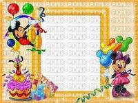 multicolore image encre bon anniversaire cadre violet rose noir color ballons effet Minnie  Mickey Disney edited by me