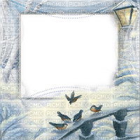winter birds frame
