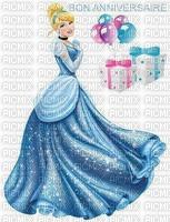 image encre bon anniversaire color effet Cendrillon  Disney cadeaux ballons  edited by me