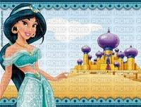 image encre château bon anniversaire paysage  aladin princesse Jasmin Disney color effet  edited by me