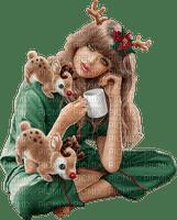 Women. Christmas. Coffee. Leila