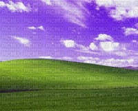 Bliss wallpaper with purple sky