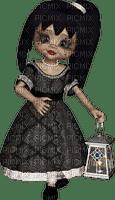 gothic doll LANTERN gothique poupée LANTERNE