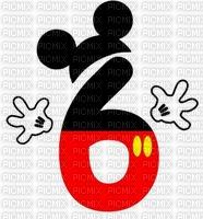 image encre numéro 6 bon anniversaire Mickey Disney edited by me