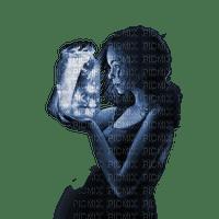 femme bleu