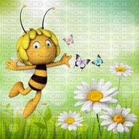 image encre paysage la nature  effet fleurs abeille papillon edited by me