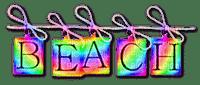 Beach.Text.Rainbow