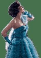 minou-woman in blue-femme bleu-donna in blu-kvinna i blå