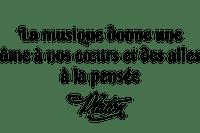 """""""La musique donne une ame á nos cœurs et des ailes á la pensée"""" Platón.Texte.Phrase.Citation.Quotes.Victoriabea"""