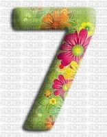 image encre numéro 7 fleurs bon anniversaire edited by me