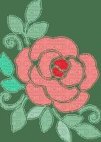 Fleurs nature coin Debutante pink flower