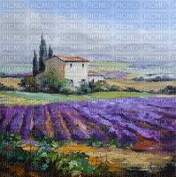 provence landscape watercolor