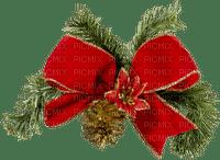 Noël-Christmas.Bow.Pine.Branche.branch.Deco.Ruban.ribbon.Red. -Victoriabea