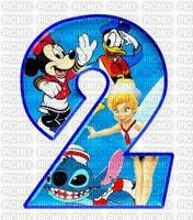 image encre numéro 2 bon anniversaire  Disney edited by me