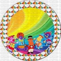 image encre couleur anniversaire cirque carnaval rond arc en ciel clown pierrot edited by me