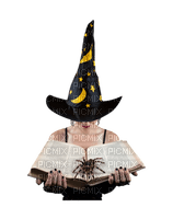 Lady, Ladies, Woman, Women, Female, Femme, Fille, Girl, Girls, Witch, Spell, Spells, Potion Book, Potions, Books, Spider, Spiders, Halloween, Fantasy - Jitter.Bug.Girl