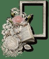 chantalmi cadre fleur livre gris
