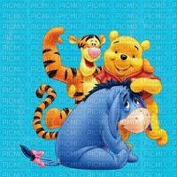 image encre bon anniversaire couleur effet Eeyore Pooh Tiger Disney edited by me