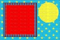 multicolore image encre effet cadre rouge bleu néon étoiles rayures  deco edited by me