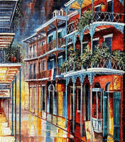 Rena New Orleans Abend Hintergrund City