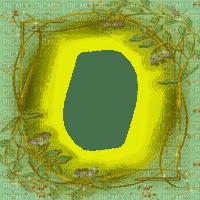 GREEN GOLD TREE FRAME cadre vert or arbre